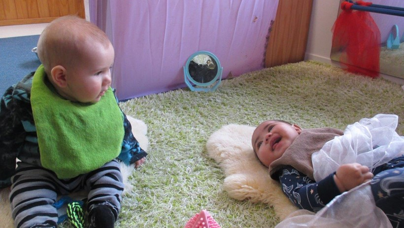 babies playing Teina Little Buddies Room